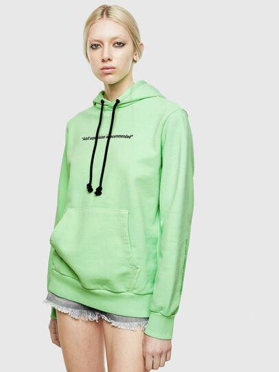 Diesel - S-GIRK-HOOD-FLUO, Green Fluo - Sweatshirts - Image 2