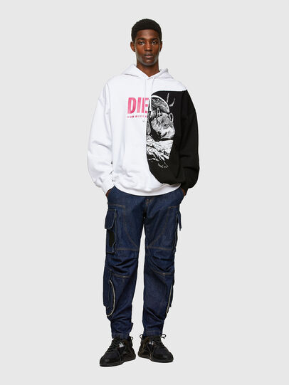 Diesel - S-BLASTY, White/Black - Sweatshirts - Image 5