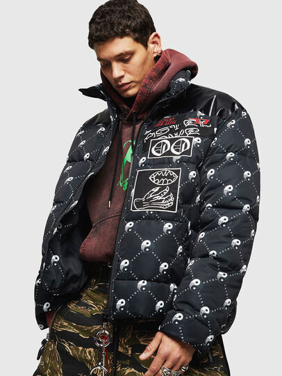 Diesel - W-PIATIG-PEACE, Black - Winter Jackets - Image 7