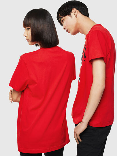 Diesel - CL-T-DIEGO-1, Red - T-Shirts - Image 3
