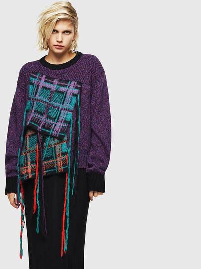 Diesel - M-TARTANN, Violet - Sweaters - Image 1