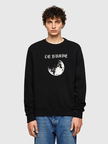 Green Label sweatshirt with moon print