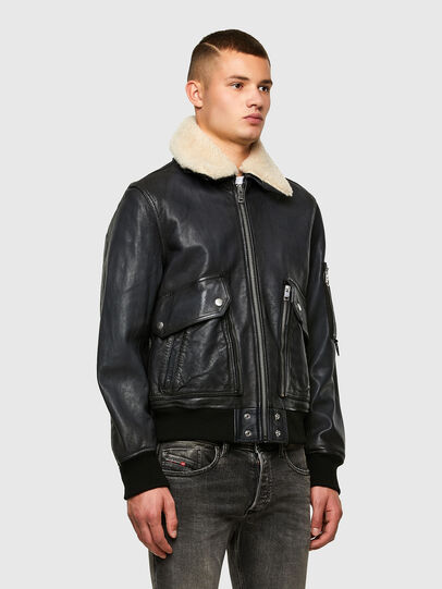Diesel - L-STEPHEN, Black - Leather jackets - Image 7