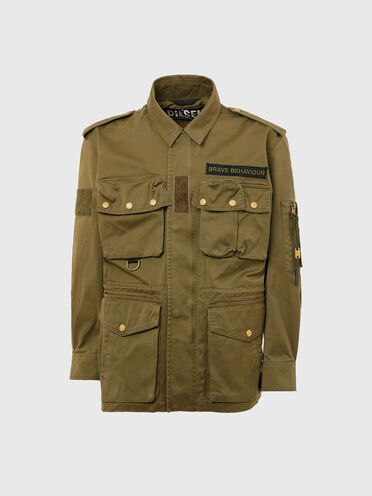 Green Label multi-pocket field jacket