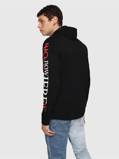 Diesel - T-FONTY-YB, Black - T-Shirts - Image 2