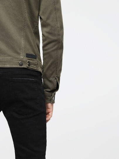 Diesel - ELSHAR JOGGJEANS, Military Green - Denim Jackets - Image 5