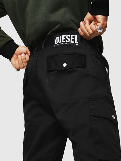 Diesel - P-JARED-CARGO, Black - Pants - Image 3