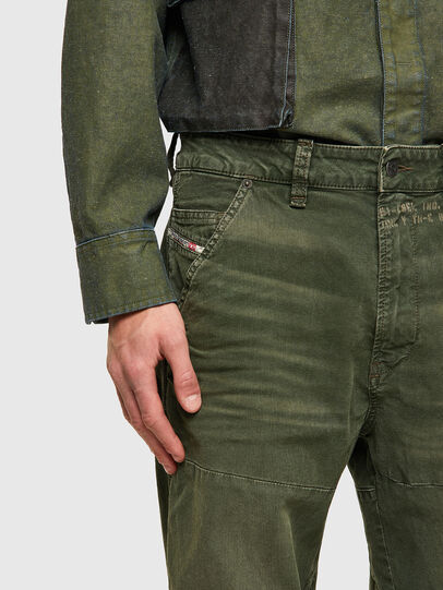 Diesel - D-Azerr Straight JoggJeans® 069WH, Military Green - Jeans - Image 5