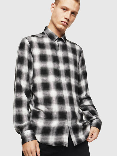 Diesel - S-MARLENE-C, Black/White - Shirts - Image 1