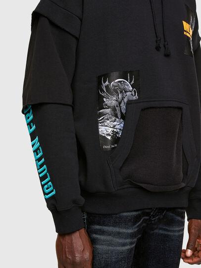 Diesel - S-UBBER, Black - Sweatshirts - Image 4