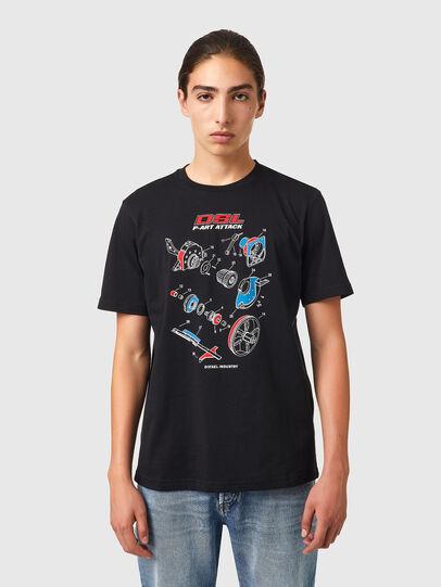 Diesel - T-JUST-B53, Negro - Camisetas - Image 1