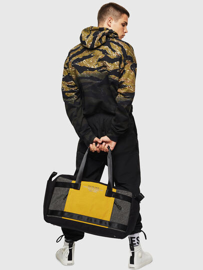 Diesel - SOLIGO, Black/Yellow - Travel Bags - Image 6