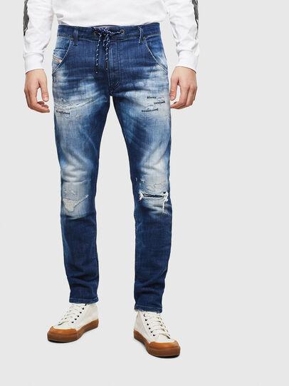 Diesel - Krooley JoggJeans 0099S, Dark Blue - Jeans - Image 1
