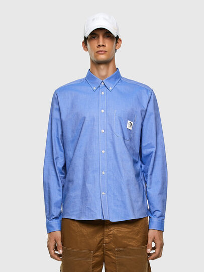 Diesel - S-JAMES, Blue - Shirts - Image 4