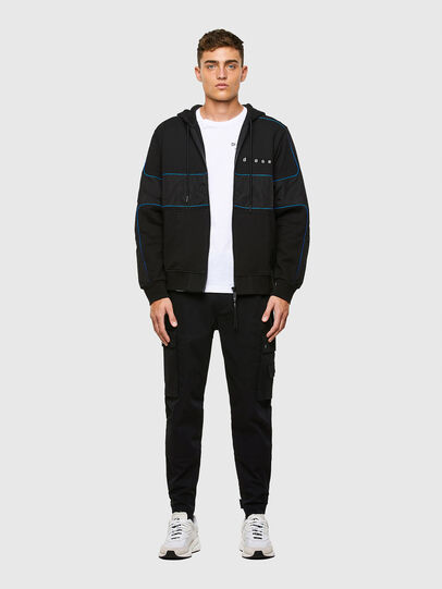 Diesel - S-LAIN-ZIP, Black - Sweatshirts - Image 5