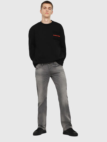 Diesel - Larkee C84HP, Light Grey - Jeans - Image 4