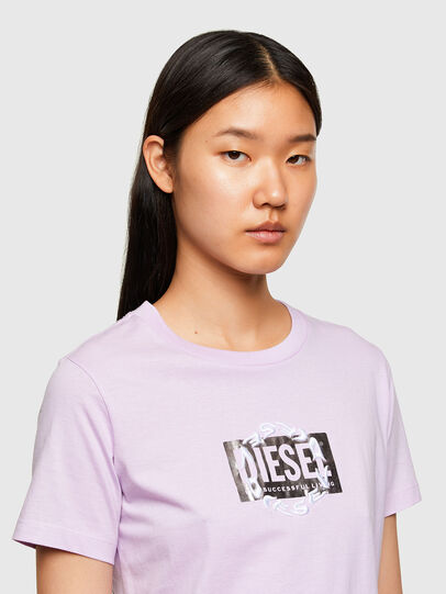 Diesel - T-SILY-R5, Lilac - T-Shirts - Image 3