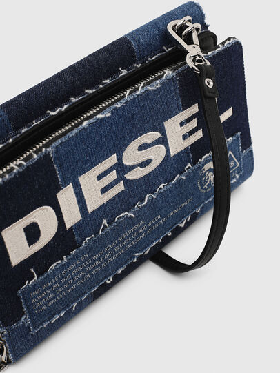 Diesel - DUPLET LCLT, Blue - Zip-Round Wallets - Image 7
