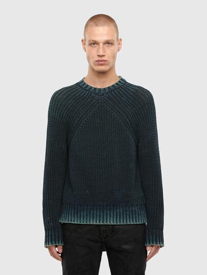 Diesel - K-LIAM, Dark Blue - Sweaters - Image 1