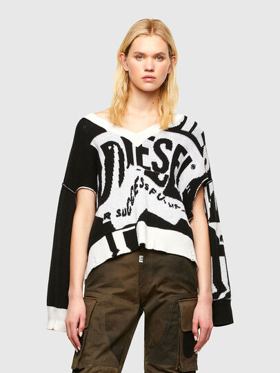 Diesel - M-ROSALINE, White/Black - Sweaters - Image 1