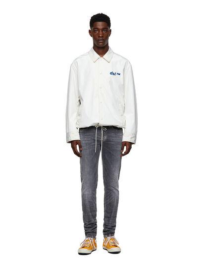 Diesel - Sleenker Skinny Jeans 009FW, Light Grey - Jeans - Image 5
