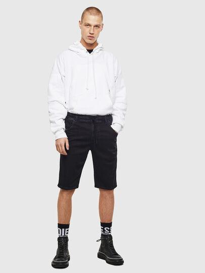 Diesel - D-KROOSHORT JOGGJEANS, Black/Dark Grey - Shorts - Image 5