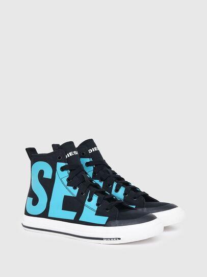 Diesel - S-ASTICO MID CUT, Black/Blue - Sneakers - Image 2
