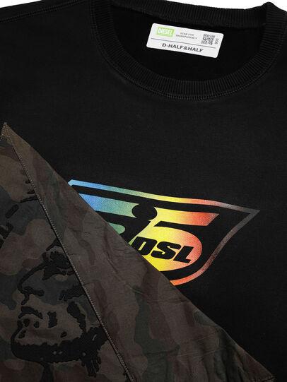 Diesel - D-HALF&HALF, Black - Sweatshirts - Image 4