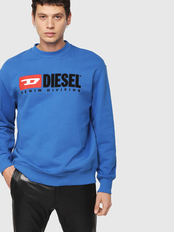 S-CREW-DIVISION, Brilliant Blue - Sweatshirts