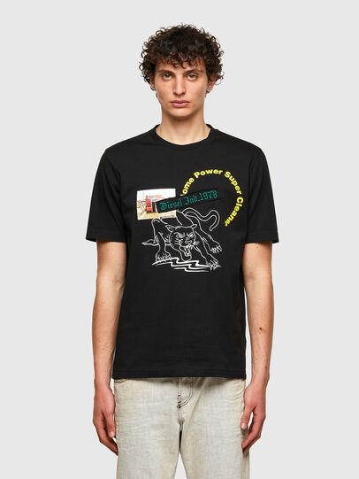 Diesel - T-JUST-B60, Negro - Camisetas - Image 1