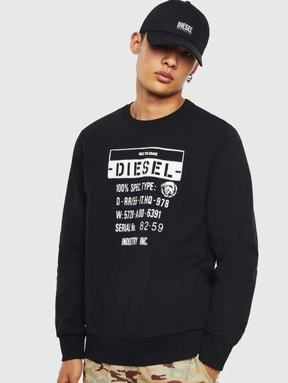 Diesel - S-GIRK-S3, Black - Sweatshirts - Image 1