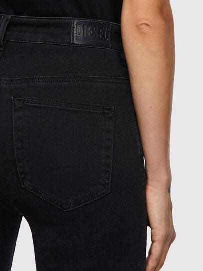 Diesel - Slandy High Skinny Jeans 069VW, Black/Dark Grey - Jeans - Image 4