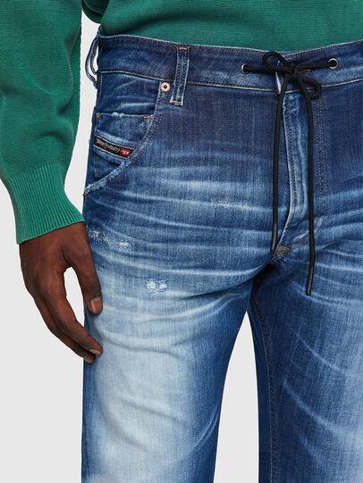 Diesel - Krooley Tapered JoggJeans® 09B52, Medium Blue - Jeans - Image 4