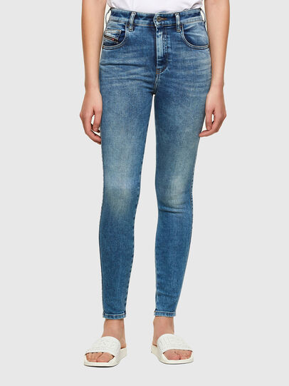 Diesel - Slandy High Skinny Jeans 009PT, Light Blue - Jeans - Image 1