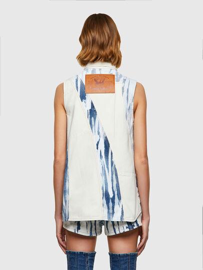 Diesel - DE-RING-SP, Blanco/Azul marino - Camisas de Denim - Image 2