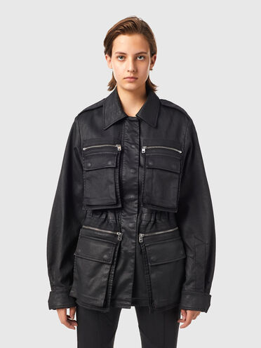 Workwear jacket in coated JoggJeans®