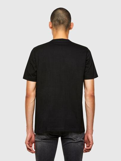 Diesel - T-JUST-N45, Black/Violet - T-Shirts - Image 2