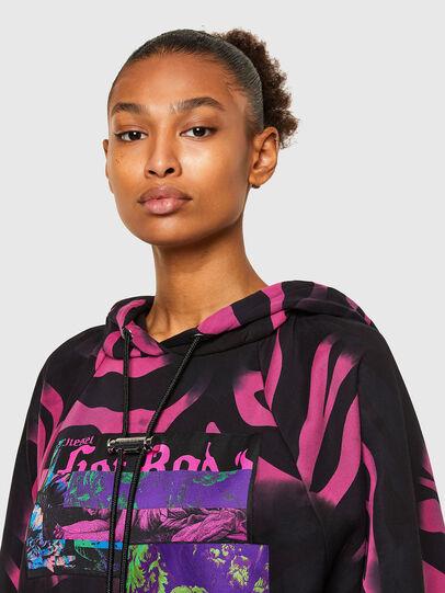 Diesel - F-BIORG, Black/Pink - Sweatshirts - Image 3