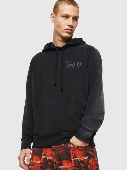 Diesel - S-GIRK-HOOD-SUN, Black - Sweatshirts - Image 1