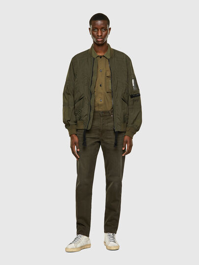 Diesel - D-Fining Tapered Chino 0699P, Military Green - Jeans - Image 6