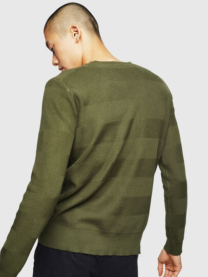 Diesel - K-STLE, Military Green - Sweaters - Image 2