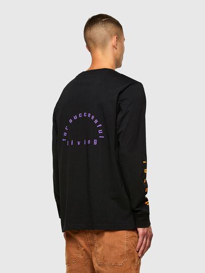 Diesel - T-JUST-LS-N64, Black/Violet - T-Shirts - Image 2