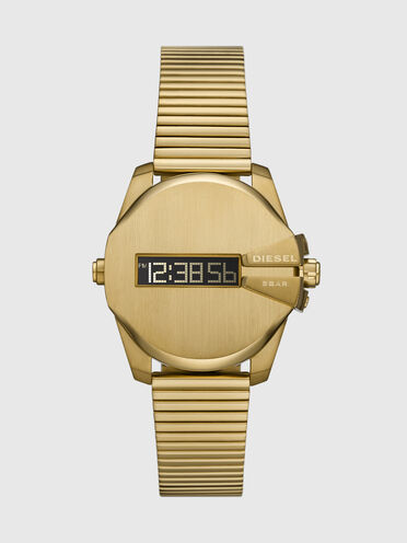 Baby Chief digital gold-tone stainless steel watch