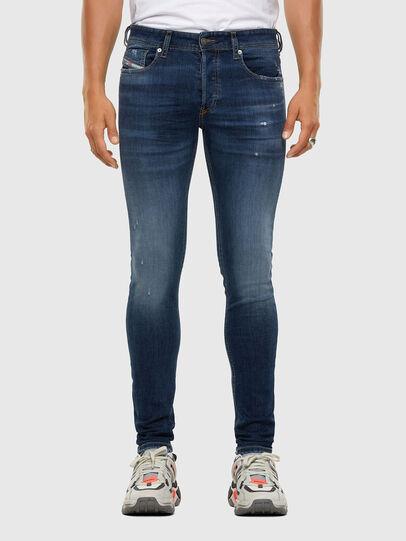 Diesel - Sleenker Skinny Jeans 009DK, Dark Blue - Jeans - Image 1