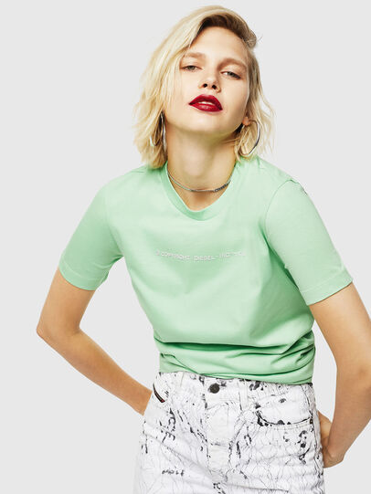 Diesel - T-SILY-COPY, Green - T-Shirts - Image 4