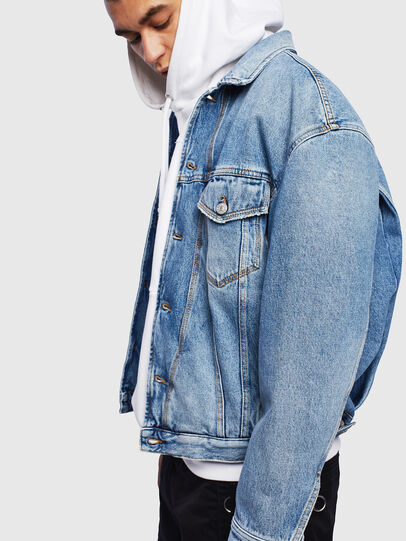 Diesel - D-BRISTY, Light Blue - Denim Jackets - Image 5