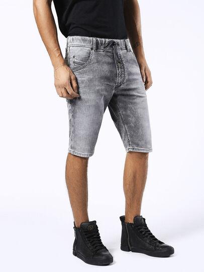 Diesel - KROSHORT JOGGJEANS, Light Grey - Shorts - Image 3