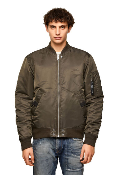 Reversible padded bomber jacket
