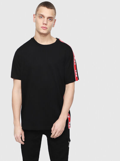 Diesel - T-JUST-RACE, Black/Red - T-Shirts - Image 1