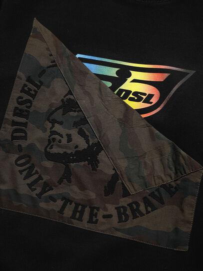 Diesel - D-HALF&HALF, Black - Sweatshirts - Image 3